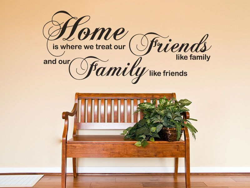 home is where we treat our wall art sticker -wall sticker decal